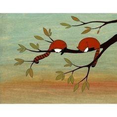 Nursery art - Red pandas