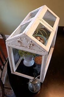 DIY.  the upcycler - refusing refuse - upcycle - recycle - repurpose: Picture Frame Terrarium - Mini Conservatory