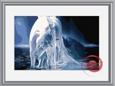 Unicorn's Reflection Counted Cross Stitch Pattern - Unicorn Cross Stitch Chart - Instant Download PDF