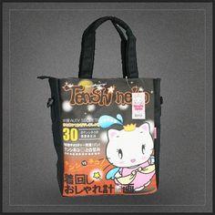 Grand sac shopping Tenshi Neko Kitty. Un sac besace bandoulière Tenshi Neko le petit chat kawaii.