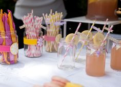 Juno's Naming Day & Pou's 3rd Birthday // Photography by Panagiotis Baxevanis // Paper straws from BahanaSplitsBoutique and naissance @ Etsy // Printables from BeautyDivineDesign & LittlePrintsParties @Etsy and sherykdesigns.com // Mason jars // Dessert table