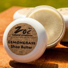 Lemongrass Shea Body Butter | Zoe Natural Creations {www.zoenaturalcreations.com} #Natural #Organic #Skincare #Beauty #Shea #Lemongrass #Ingredients #AllNatural #Health #Skin