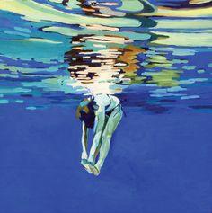 "Saatchi+Online+Artist+laura+baker;+Painting,+""Swimmer+#3""+#art"