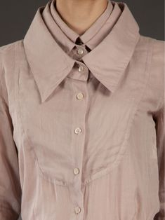Multiplication - triple collar shirt; cool fashion design details // Viktor & Rolf