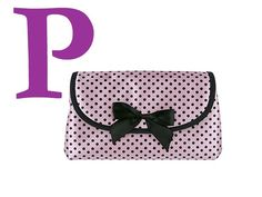 Pink with black polka dots - goes with my Mary Kay bags