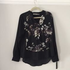 Violet + Claire Black and Flower Button Down Violet + Claire Black and Flower Button Down. Size Large. Brand new with tags. Could fit a loose medium as well. All black back. Front has black sleeves with subtle flowers. Violet & Claire Tops Button Down Shirts