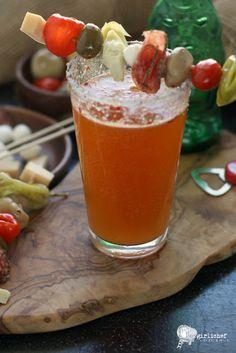 bloody beer w antipasto kebab garnish bloody beers with antipasto ...
