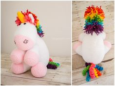 "truebluemeandyou: ""DIY Crochet Unicorn Free Pattern from One Dog Woof. This pattern is inspired by the Despicable Me ""It's so fluffy!"" unicorn. For another crochet unicorn, I posted links crochet..."