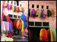 Marrakech Souk des teinturiers