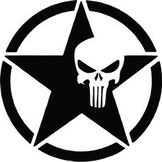 US Army Star Punisher Skull Vinyl Graphic Decal Truck Window Stickers, Bike Stickers, Le Punisher, Punisher Skull Decal, Tattoo Eraser, Laser Tattoo, Silhouette Art, Animes Wallpapers, Vinyl Designs