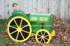 Homemade John Deere Halloween Costume: This Homemade John Deere Halloween Costume  was inspired by my father and grandpa (who is no longer with us) who collect and love John Deere tractors.