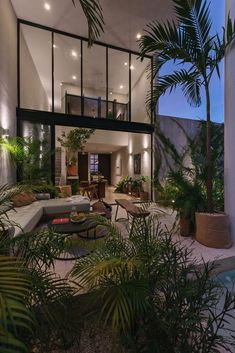"""INTERIOR PORN on Twitter: """"I love biophillic homes 🥰… """" Dream House Interior, Luxury Homes Dream Houses, Dream Home Design, My Dream Home, Modern Home Design, Future House, Aesthetic Rooms, House Goals, Dream Rooms"""