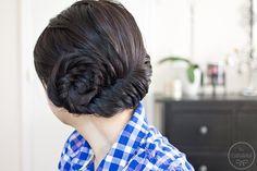 DIY Wedding Hair : DIY  An Asymmetrical Fishtail Braid Updo