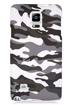 "myLife Snow White + Shale Gray Urban Camo {Unique, Army, Military} 2 Piece Snap-On Rubberized Protective Faceplate Case for the Samsung Galaxy Note 4 ""All Ports Accessible"" myLife Brand Products http://www.amazon.com/dp/B00U4BSAUC/ref=cm_sw_r_pi_dp_3Eyhvb1A043VW"