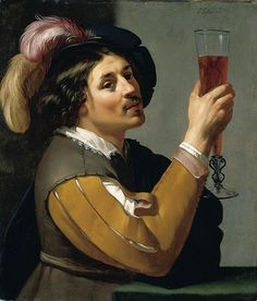"Jan van Bijlert ""Young Man Drinking a Glass of Wine"", 1640 (The Netherlands, Baroque / Dutch Golden Age, cent. Utrecht, Art Du Vin, Stained Teeth, Dutch Golden Age, Wine Art, Johannes Vermeer, Dutch Painters, In Vino Veritas, Dutch Artists"