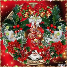 GIFS HERMOSOS: cosas navideñas encontradas en la web Animated Christmas Pictures, Animated Christmas Tree, Merry Christmas Gif, Christmas Scenes, Christmas Candles, Vintage Christmas Cards, Christmas Images, Christmas Art, Christmas Greetings