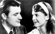 Awesome Photos of Writers Hanging Out via Flavorwire - Sylvia Plath and Ted Hughes