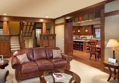 Craftsman Home - traditional - family room - columbus - Andrew Melaragno, AIBD
