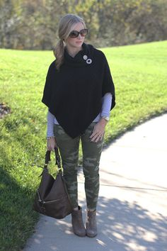 Casual and every day camo.  camoflage pants, booties, hobo http://www.simplylulustyle.com/2013/10/gap-camoflage-pants.html