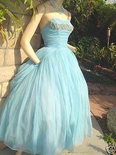 blue vintage prom dresses - Google Search
