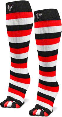 Atlanta Falcons Black NFL Stripped Toe Sock $14.99