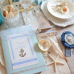 招待状も小物も全部マリンデザイン♡リゾート婚・夏婚に使いたい可愛すぎるウェデングアイテム特集*にて紹介している画像