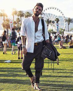 Coachella outfits, Coachella Valley Music and Arts Festival, menswear, music, looks and inspiration Coachella Looks, Coachella 2016, Coachella Valley, Art Festival, Tattoo Inspiration, Fashion Looks, Menswear, Mens Fashion, Blazer