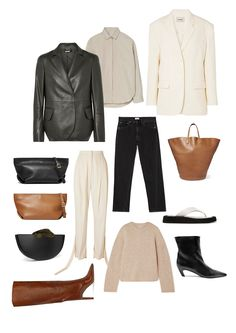 Net A Porter's New Arrivals Power Dressing, Leather Blazer, Wool Pants, Office Fashion, Fall Looks, Polyvore Outfits, Black And Brown, Autumn Fashion, Rachel Berry
