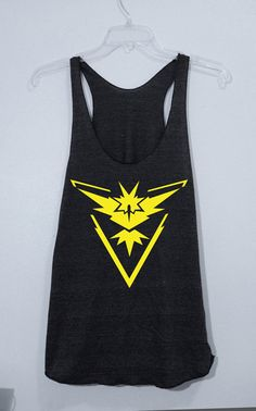 Pokemon Tank Top /Pokemon Go Team Instinct /Pokeball by LowPop