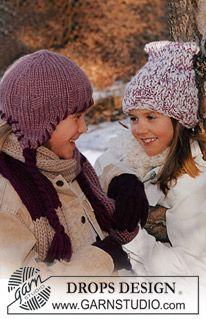 """DROPS Muts, sjaal and handschoenen in """"Eskimo"""" and """"Karisma Superwash"""" ~ DROPS Design"""