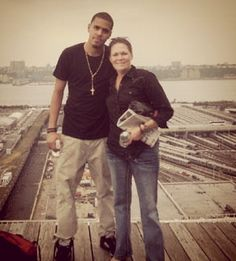 J Cole & his mommy :)