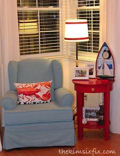 How to Paint Upholstery (Latex Paint and Fabric Medium)via TheKimSixFix.com