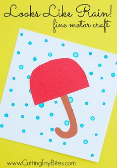 Looks like rain- rainy day craft - spring craft- kids craft - crafts for kids -acraftylife.com