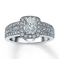 Clearance! 14K White Gold 1 Carat t.w. Diamond Ring