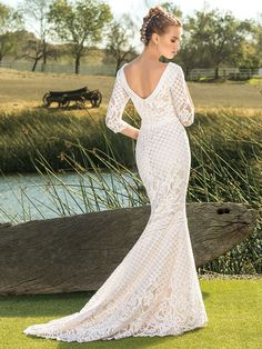 80782164ba3 Shop the playful Beloved Bridal Sloane Bohemian Lace A-Line Wedding Dress  today! Brimming with bohemian ease