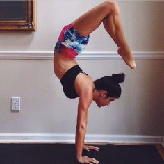 Here's Danielle wearing our New Hopes Shorts in an awesome #scorpionpose www.lunajai.com