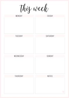 Page 1 sur 2 Weekly Planner Template, Weekly Planner Printable, Weekly Schedule, Study Planner, Planner Pages, Bullet Journal Ideas Pages, Bullet Journal Inspiration, Week Planer, Good Notes