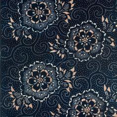 Japanese indigo pattern