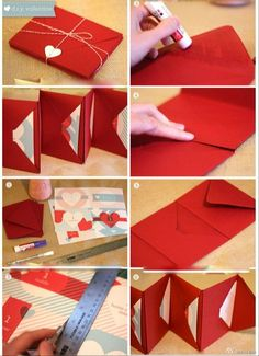 Multiple card envelope accordion DIY gift