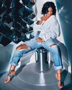 Rihanna for her new collaboration with Manolo Blahnik