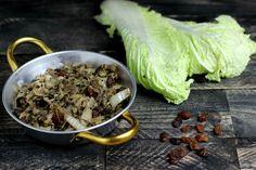 Una delle crucifere dal sapore più delicato e usata troppo poco nella nostra cucina, ecco il cavolo cinese in agrodolce uvetta e zenzero