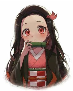 Demon Slayer: Kimetsu No Yaiba manga online Anime Girl Neko, Otaku Anime, Anime Chibi, M Anime, Chica Anime Manga, Anime Girl Cute, Anime Angel, Anime Demon, Anime Art Girl