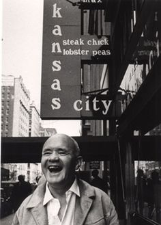 Jean Genet (novelist, poet, essayist, playwright, and political activist) at Max's Kansas City in NYC 1971 / ©Thom Lafferty