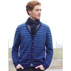 Free Intermediate Men's Cardigan Knit Pattern