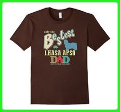 Mens Bestest Lhasa Apso Dad Best Lhasa Apso Shirt XL Brown - Relatives and family shirts (*Amazon Partner-Link)