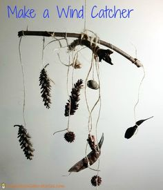 Go on a Nature Walk and find some interesting things to hang on your Wind Catcher, then hang it at the campsite!