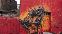 Fractured street art