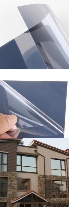 50 x 300cm Silver Glass Window Privacy Film  -  SILVER