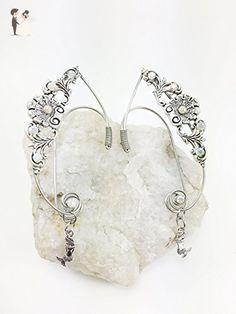 Elven Ear Cuffs Silver Filigree Sea Shell with Dangling MERMAIDS, Fairy Ear Cuffs, Cosplay Elf Ear Cuffs, Fantasy Costume Ear Cuffs - Wedding earings (*Amazon Partner-Link)