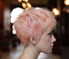 Pictures on request pastel pink short hair - Short Bob Hair Styles Pink Short Hair, Peach Hair, Pastel Pink Hair, Short Hair Cuts, Short Hair Styles, Short Pixie, Popular Short Hairstyles, Pixie Hairstyles, Pretty Hairstyles